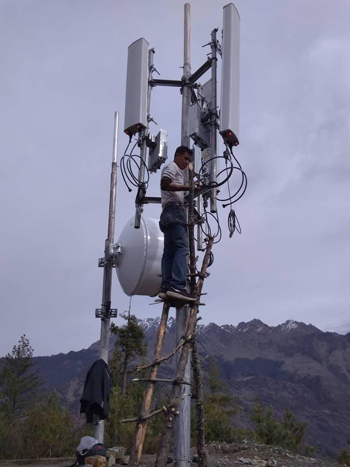 डोल्पाको रिन्पुलेमा मोबाइल टावर सञ्चालन