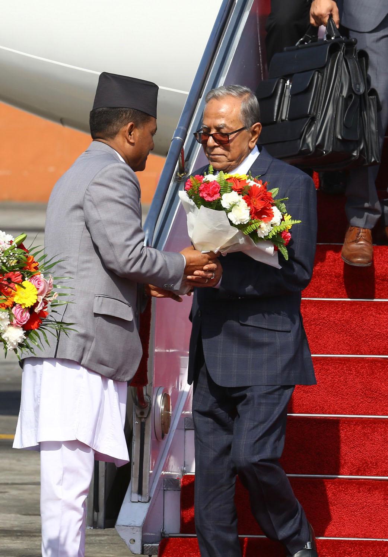 बङ्गलादेशका राष्ट्रपति हमिद काठमाडौँ आगमन