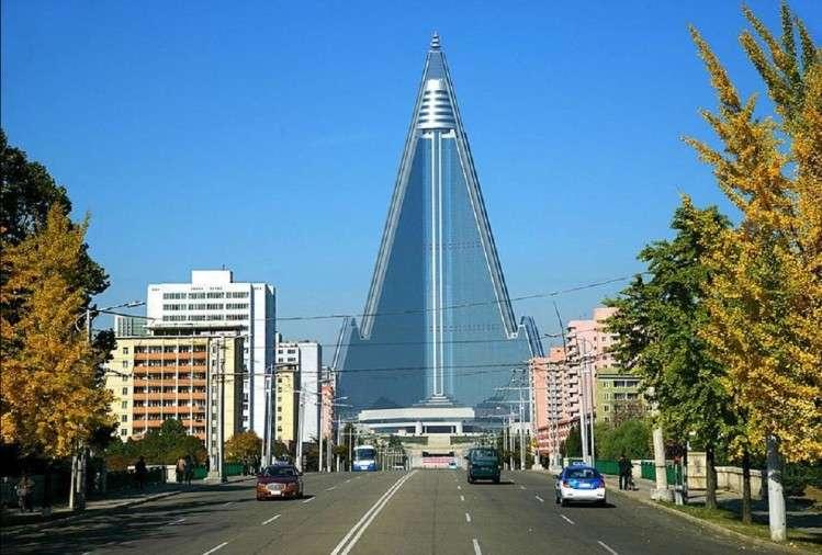 उत्तर कोरियामा छ डरलाग्दो भूत होटल, ३३ वर्षमा पनि सकिएन निर्माण कार्य