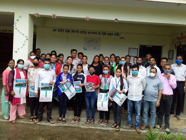 रामतुलसी मावि विज्ञान सङ्कायमा अध्ययनरत छात्रालाई छात्रवृत्ति सहयोग