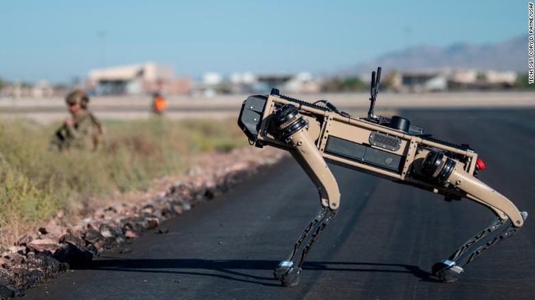 भविष्यमा युद्ध लड्न अमेरिकाले बनायो रोबोटिक कुकुर