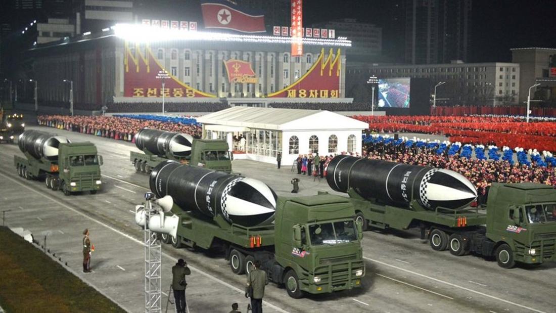 विश्वकै शक्तिशाली भएको दाबीसहित उत्तर कोरियाले प्रदर्शन गर्यो नयाँ हतियार