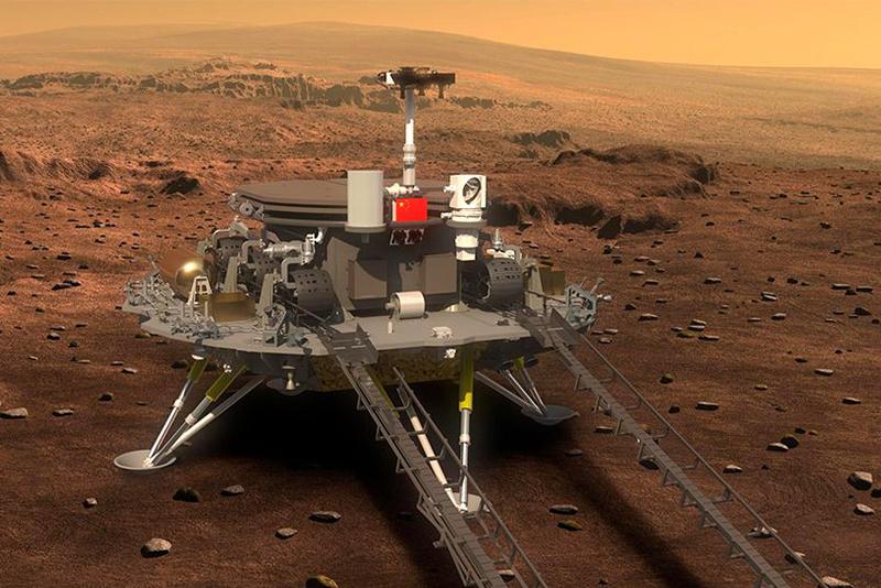 चीनको जुरोङ रोभर मंगलग्रहमा सफल अवतरण