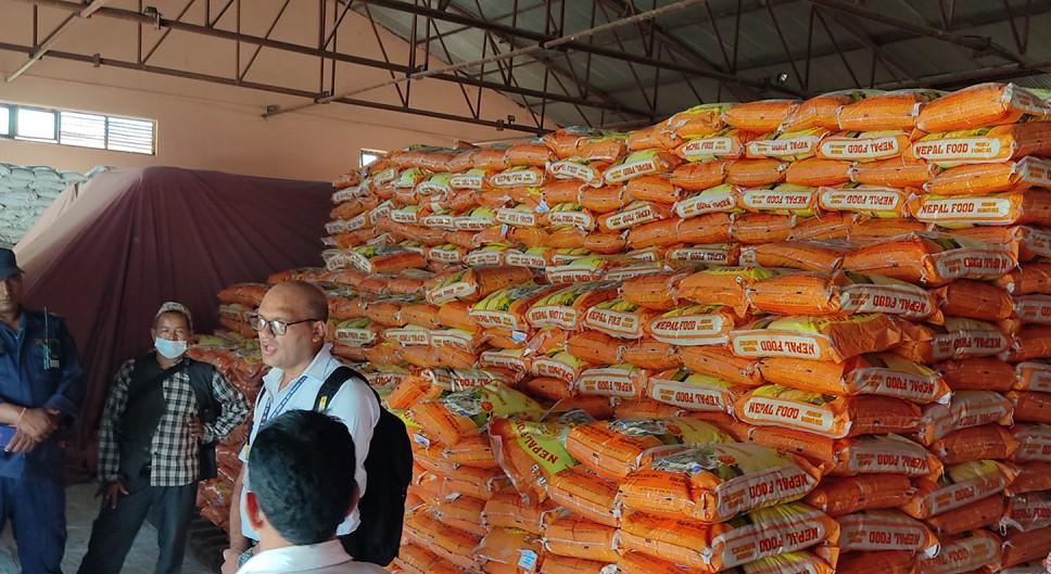 खाद्यको सुर्खेतस्थित गोदाममा २ हजार क्विन्टल चामल गुणस्तरहीन